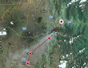 Riobamba to Baños walk, Ecuador