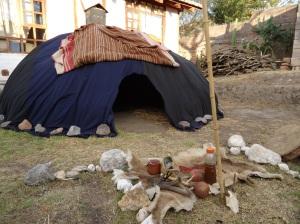 Temazcal (sweat lodge) tent, Ecuador