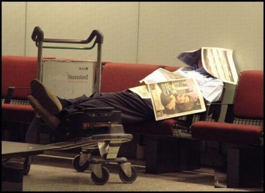 sleep at the airport