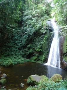 waterfall at Tamushal, Tarapoto, Peru